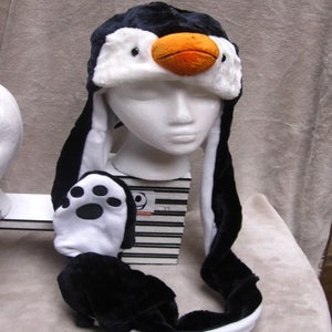 Image of Long Penguin Hat w/Mittens