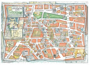 Image of The Map of Spitalfields Life (Hand-tinted Limited Edition Print)