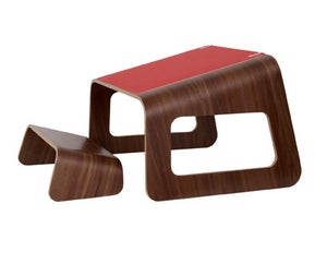 Image of Knelt™ American Walnut with unique Red pad and clips.