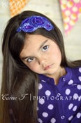 Image of Violet and Purple Sequin Beaded Headband
