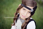 Image of New Color Black Noir Vintage Feather Headband