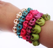Image of Technicolor Skull Bracelet
