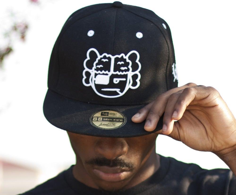 Image of Atama Logo Black Snapback Cap #01 (Limited Edition of 30 hats)