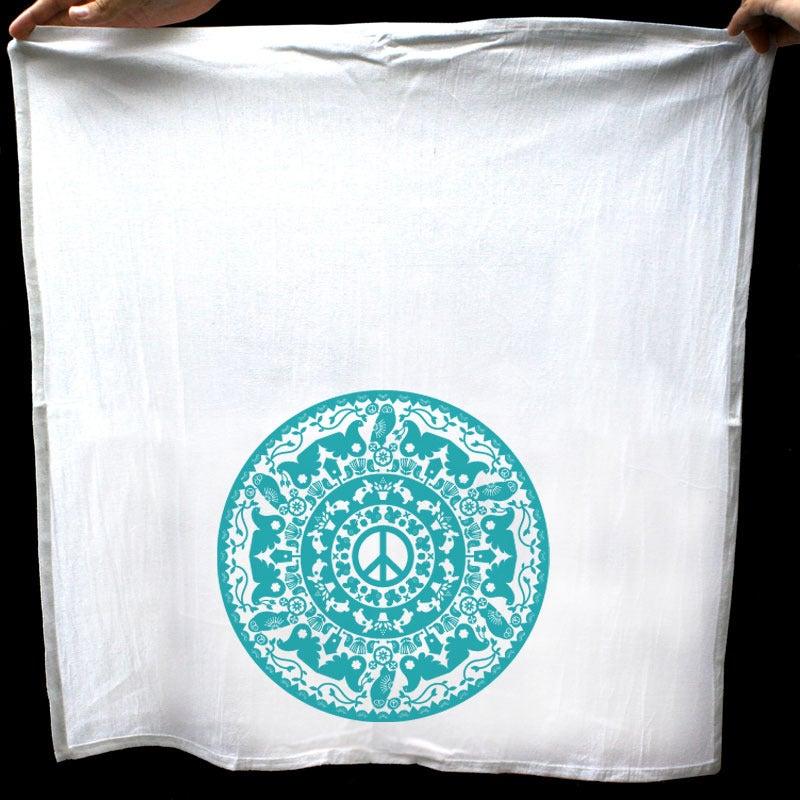 Image of Peace Radial Tea Towel