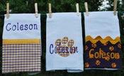 Image of Set of 3 Tiger Burp Cloths