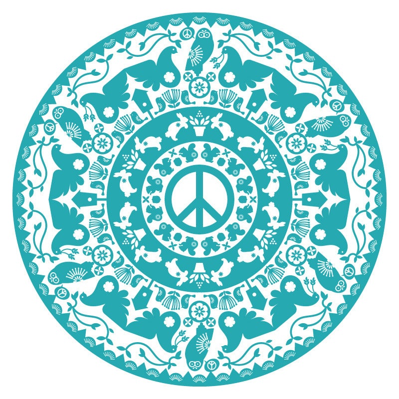 Image of Peace Radial T-Shirt (white)