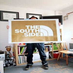 Image of SOUTHSIDE HUGE FRAMED PRINT IN 4 COLOURS