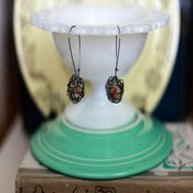 Image of Bird Nest Earrings-Oranges