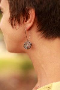 Image of Bird Nest Earrings-Oranges