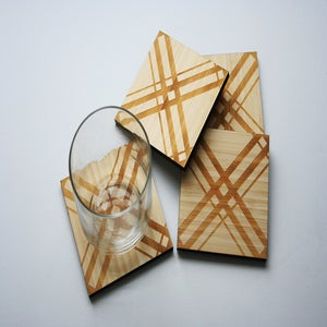Image of Plaid Coasters