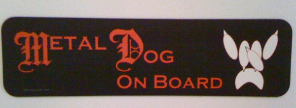 Image of Metal Dog On Board Bumper Magnet