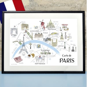 Alice Tait 'Map of Paris' Print - Alice Tait Shop