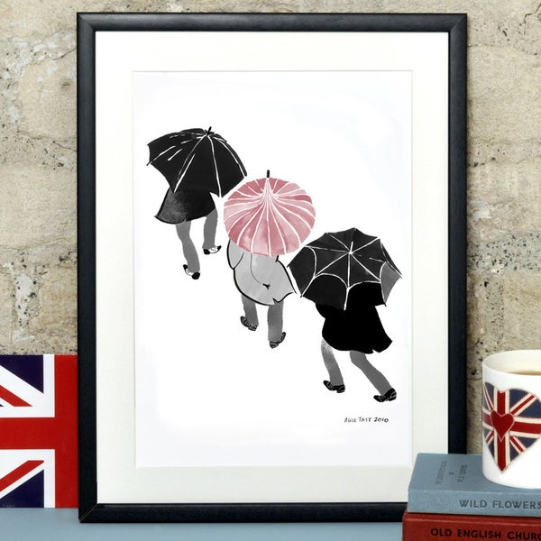 Alice Tait 'Umbrellas' Print - Alice Tait Shop
