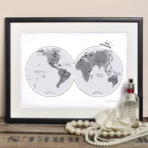 Alice Tait 'World Globe Map' Print - Alice Tait Shop