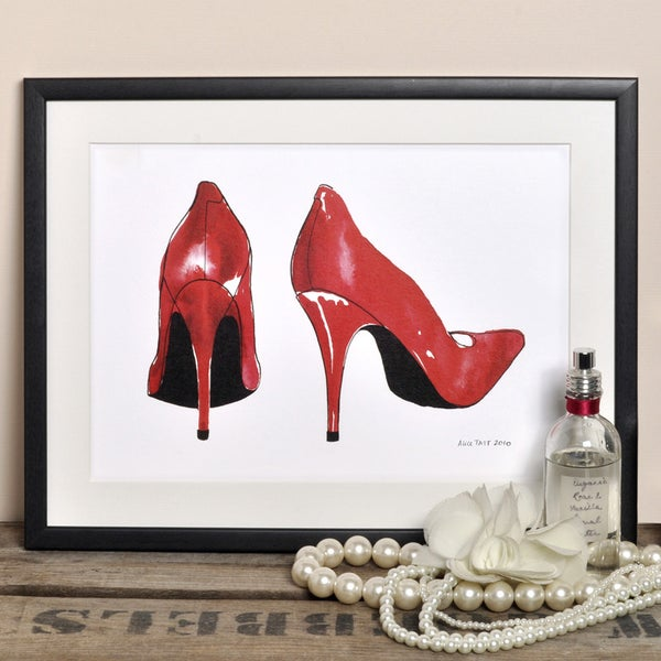 Alice Tait 'Red Shoes' Print - Alice Tait Shop