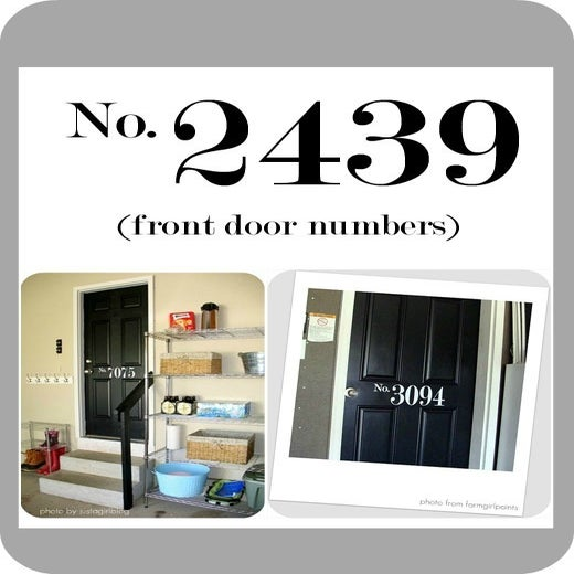 Image of Front Door Numbers