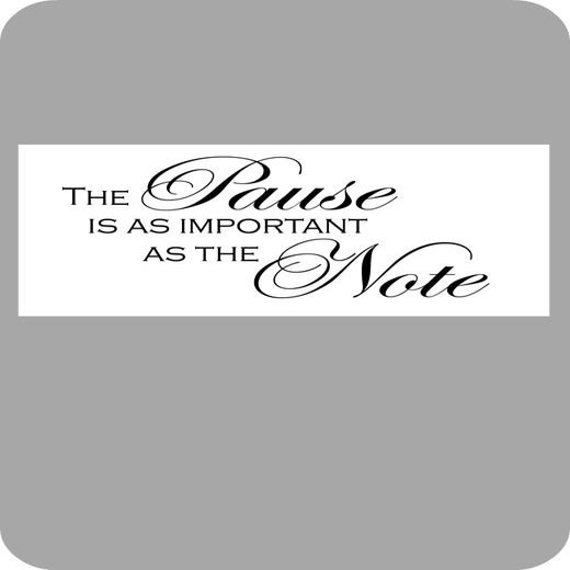 Image of The pause is as important...