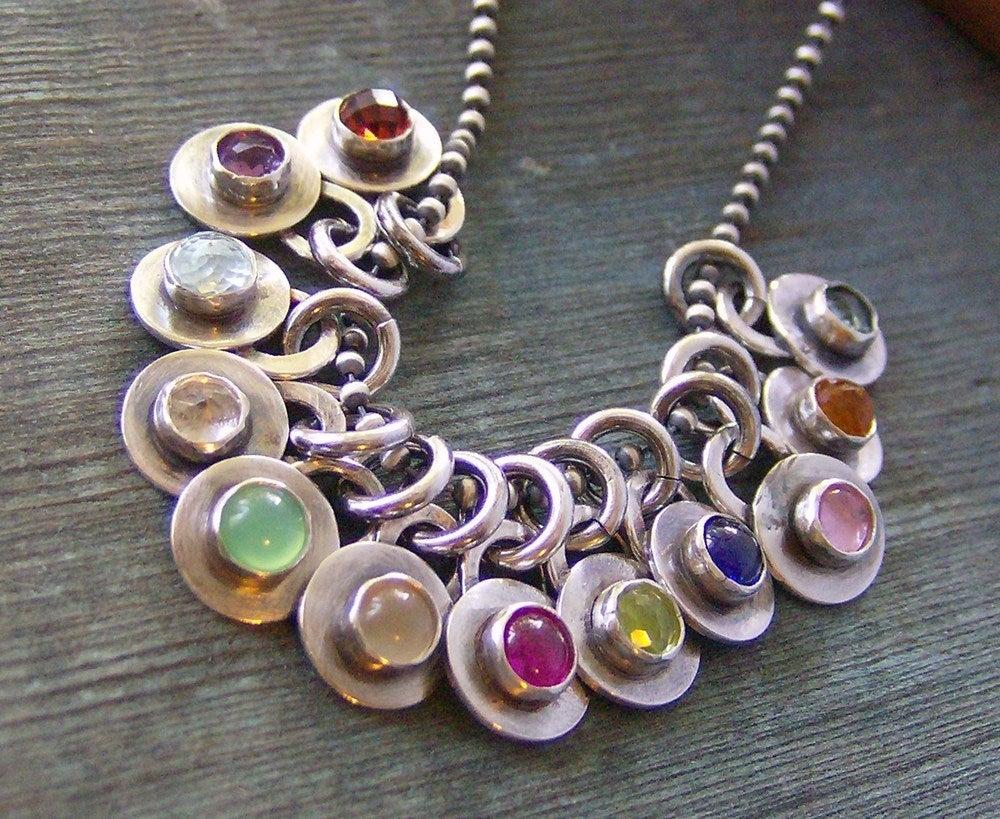 Image of add on a hand set gem stone birthstone