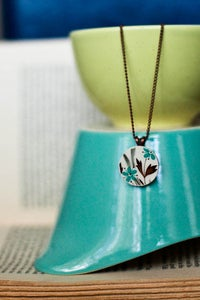 Image of Turquoise Flowers Necklace