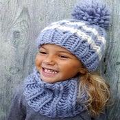 "Image of Ensemble bonnet ""Sacha"" & col ""Joy"", alpaga & laine"