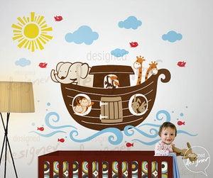 Noahs Ark Wall Decal Decor Sticker DD Childrens Kids Nursery - Wall decals noah's ark
