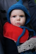 Image of gnomey baby hat