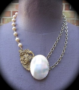 Image of Mother of Pearl Necklace, Full Moon