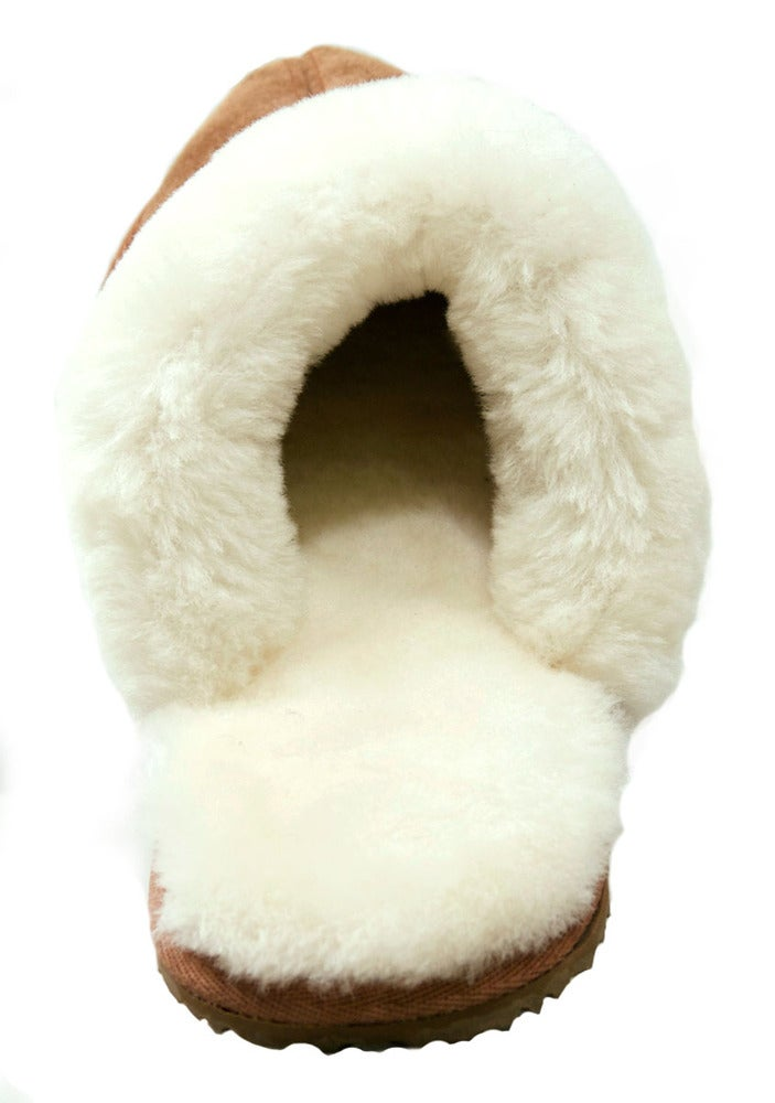 Image of MULE SHEEPSKIN lining with Cow Suede Mens Slippers