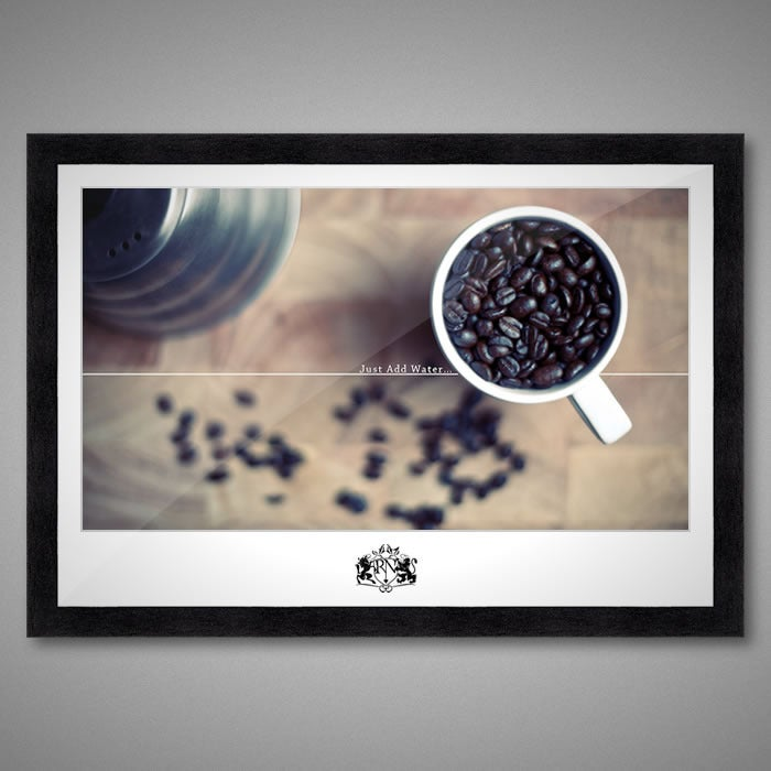 Image of Fifty of Fifty 20 inch Framed Print