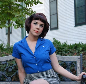 Image of Oak Hill Vintage Blue Blouse