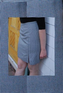 Image of Mini Houndstooth Pencil skirt