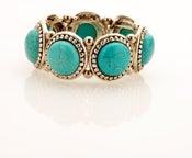 Image of Southwestern faux turquoise cuff bracelet