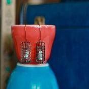 Image of Bird Nest Earrings-Minty