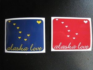 Image of Alaska Love Sticker