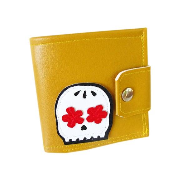 Image of Muerto ) Bifold Wallet w/ Snap Plus Zipper
