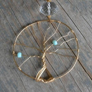 Image of Mother's Tree Of Life Necklace - Gold