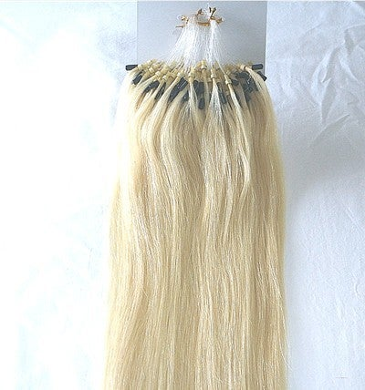Myluxury1st hair extensions remy 100 strands 20 inch long loop image of remy 100 strands 20 inch long loop micro bead ring already attached 100 pmusecretfo Choice Image