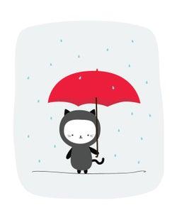 Image of Raining Kitty 8x10 Print