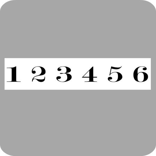 Image of 1-6 number decals