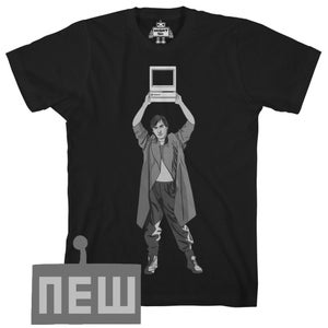 Image of say anything (steve jobs as Lloyd Dobler mac classic tee)