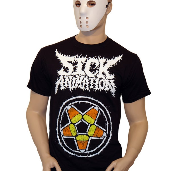 Candy Corn Pentagram Shirt - Sick Animation Shop