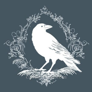 Image of The Raven decal (white)