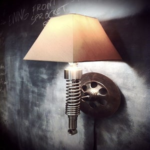 Image of Classified Moto Lamp — Wall mounted