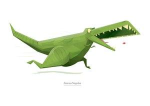 Image of Accurate Scientific Dinosaur Print