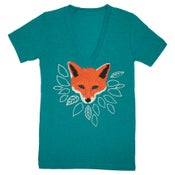 Image of V-Neck Fox Green