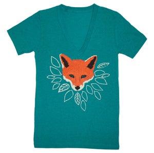 Image of V-Neck Fox Green