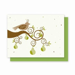 Image of Grow-A-Note® Partridge in a Pear Tree Card