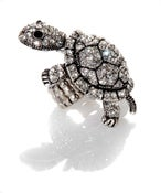 Image of Anything But Shy ~ Tortoise Swarovski Crystal ring