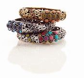 Image of Fanciful ~ filigree overlap bracelet (stack of 3 shown)