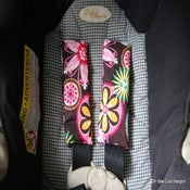 Image of Cute Reversible Car Seat Strap Covers of Your CHOICE